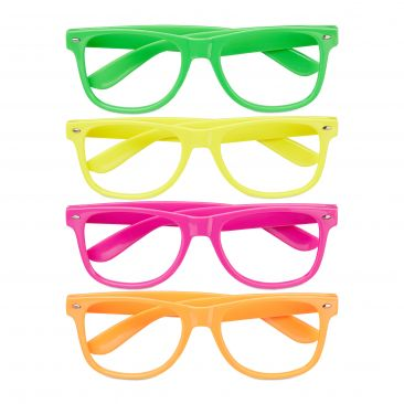 Neon Party Glasses Set of 4