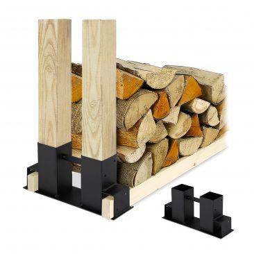 Holzstapelhilfe 2er Set Gesamtansicht