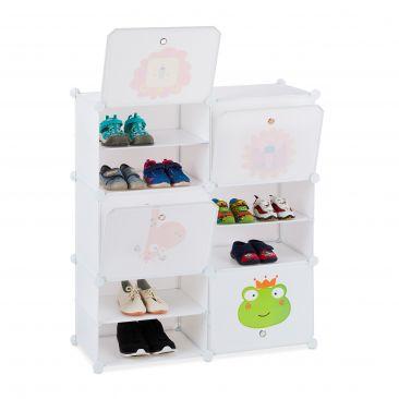 Schuhregal für Kinder zum Stecken Gesamtansicht