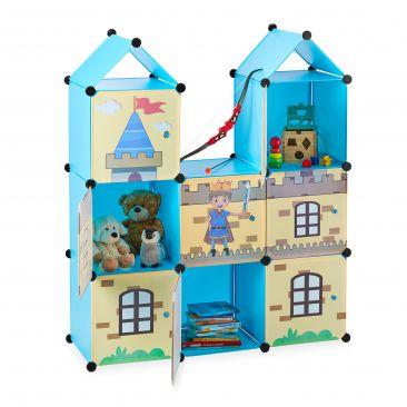 Steckregal Kinderzimmer als Ritterburg Gesamtansicht