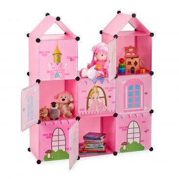 Steckregal Kinderzimmer als Schloss Gesamtansicht