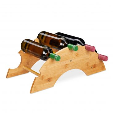 Weinregal Bambus für 5 Flaschen Gesamtansicht