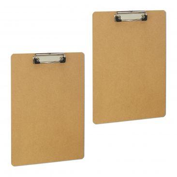 2 x Klemmbrett A4 Schreibbrett Schreibplatte Büro MDF-Platte Clipboard Klammer