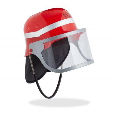 Casco bombero niño rojo