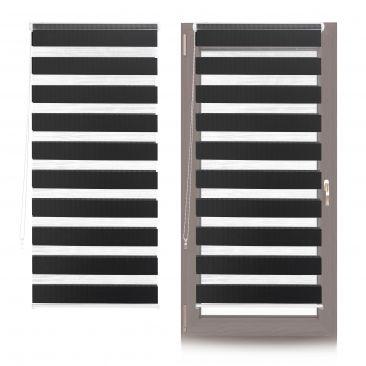 2 x Doppelrollo Fenster Klemmfix Duo Rollo Klemmen einstellbar schwarz 70x150cm