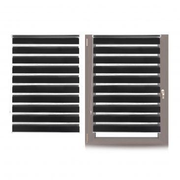 2 x Klemm Doppelrollo Klemmfix Fensterrahmen Kettenzugrollo Innen schwarz 110cm