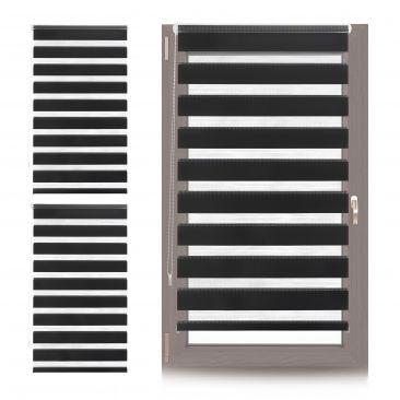 3 x Doppelrollo Klemmfix 85x150 cm, Fensterrollo Klemmträger, Innenrollo schwarz