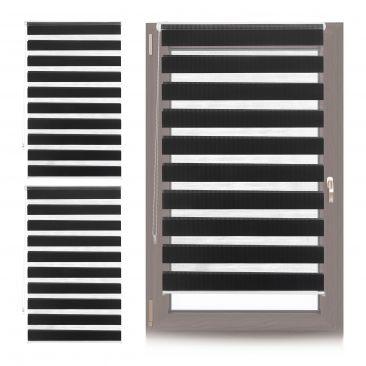3 x Doppelrollo Fensterrollo Lichtschutzrollo Seitenzug Klemmfix 90x150 black