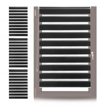 4 x Doppelrollo Klemmfix Rollo Fensterrahmen, Innenrollo ohne Bohren 100cm black