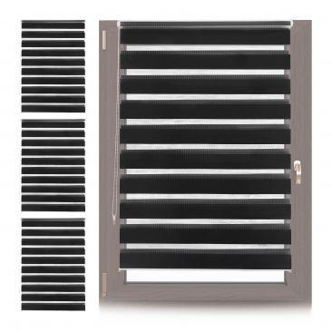 4 x Doppelrollo Klemmfix 110x150, Klemmrollo Fensterrahmen, Zugrollo schwarz