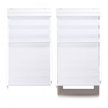 2 x Doppelrollo Innenrollo Tageslichtrollo Thermorollo Fensterrollo 60x160 weiß
