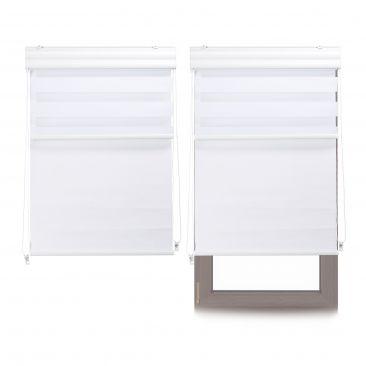 2 x Doppelrollo Innenrollo Tageslichtrollo Fensterrollo 70x160 weiß Thermorollo