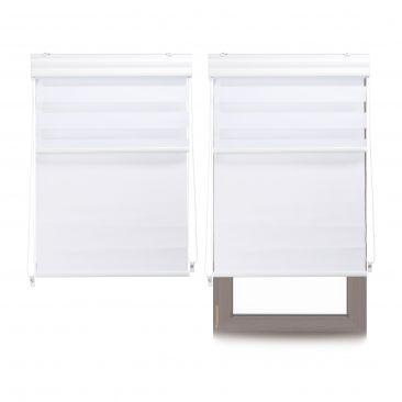 2 x Doppelrollo Innenrollo weiß Tageslichtrollo Fensterrollo 80x160 Thermorollo