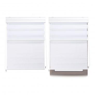 2 x Doppelrollo Innenrollo Tageslichtrollo Fensterrollo 90x160 Thermorollo Rollo