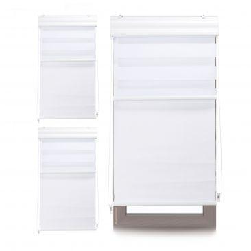 3 x Doppelrollo weiß Innenrollo Tageslichtrollo Thermorollo Fensterrollo 60x160