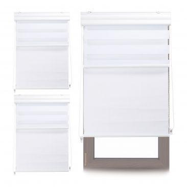 3 x Doppelrollo Duorollo weiß Tageslichtrollo Fensterrollo 80x160 Thermorollo
