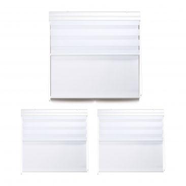 3 x Doppelrollo, Tageslichtrollo, Fensterrollo, Thermorollo, Innenrollo 110x160