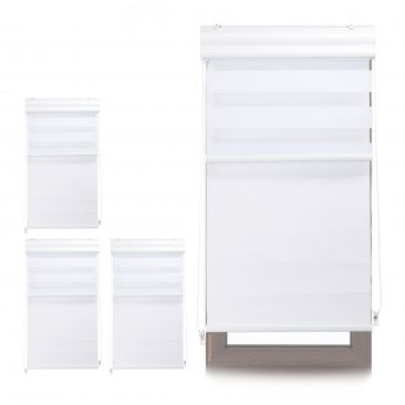 4 x Doppelrollo Tageslichtrollo Thermorollo Fensterrollo 60x160 weiß Innenrollo