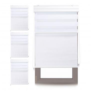 4 x Doppelrollo Innenrollo Tageslichtrollo 70x160 Fensterrollo weiß Thermorollo