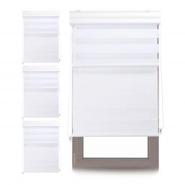 4 x Doppelrollo Kombirollo weiß Tageslichtrollo Fensterrollo 80x160 Thermorollo