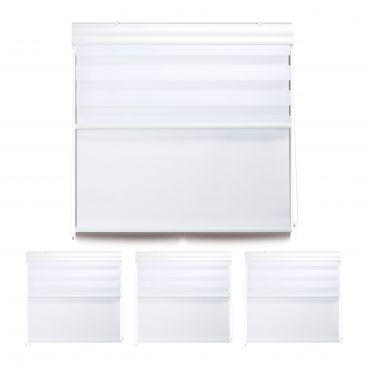 4 x Doppelrollo Tageslichtrollo Fensterrollo 110x160 cm Thermorollo Innenrollo