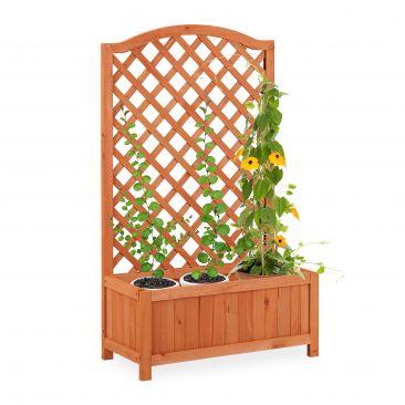 Holz Rankkasten orangebraun