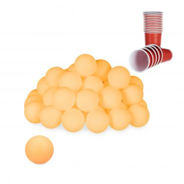 Beer Pong Bälle orange