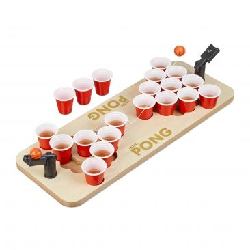 Mini Beer Pong mit roten Bechern