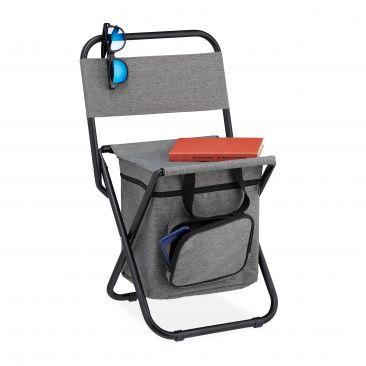 Sedia da campeggio con schienale e borsa