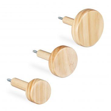 Wandhaken Holz 3 Stück