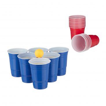 Beer pong Set 50 bicchieri rossi e blu