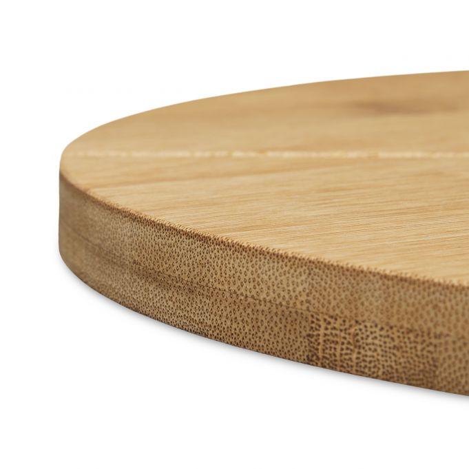 Plato de bambú para cortar pizza 4