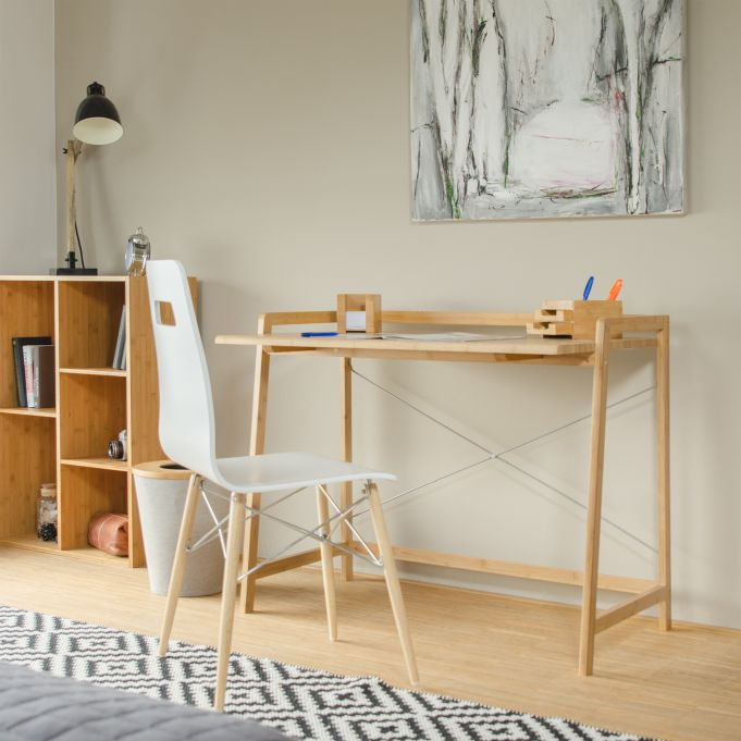 Bamboo Desk With Cross Bars2