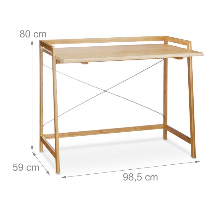 Bamboo Desk With Cross Bars3