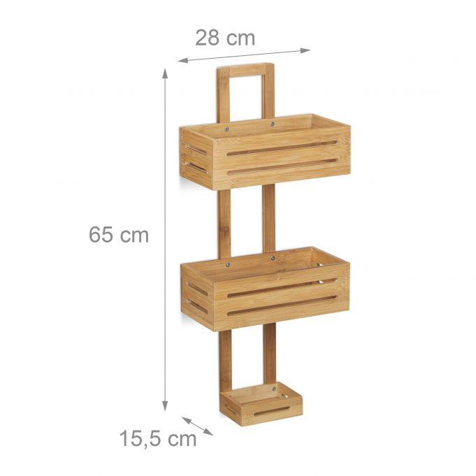 Mensola per doccia in bambù4