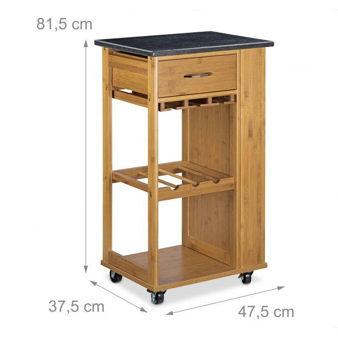 Küchenwagen ALFRED L mit Weinregal3