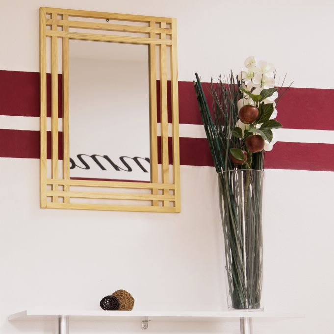 Espejo con marco de madera de pino2