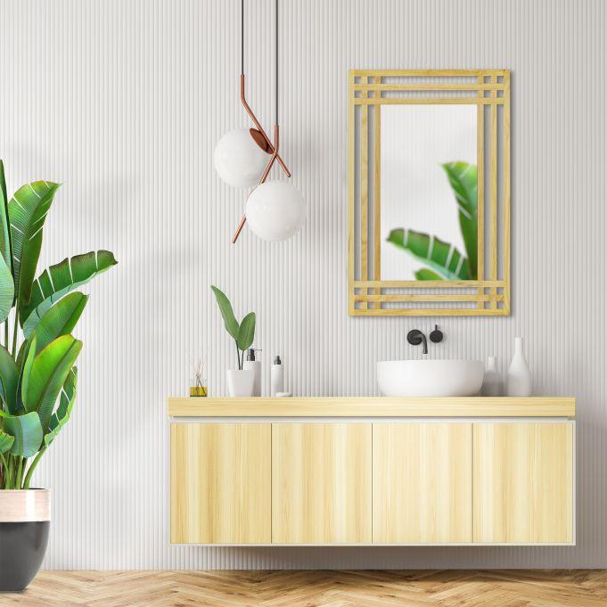 Espejo con marco de madera de pino3