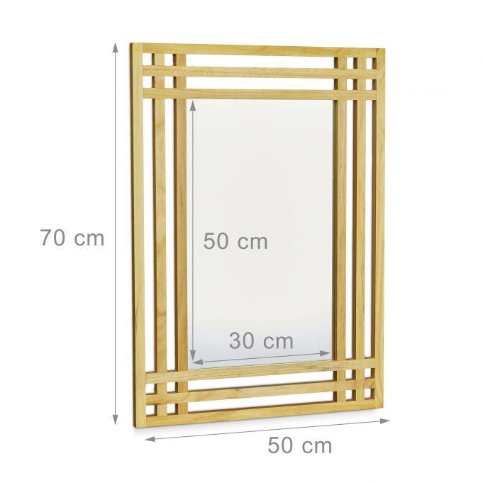 Espejo con marco de madera de pino4
