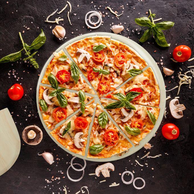 Set de piedra horno y pala pizza3