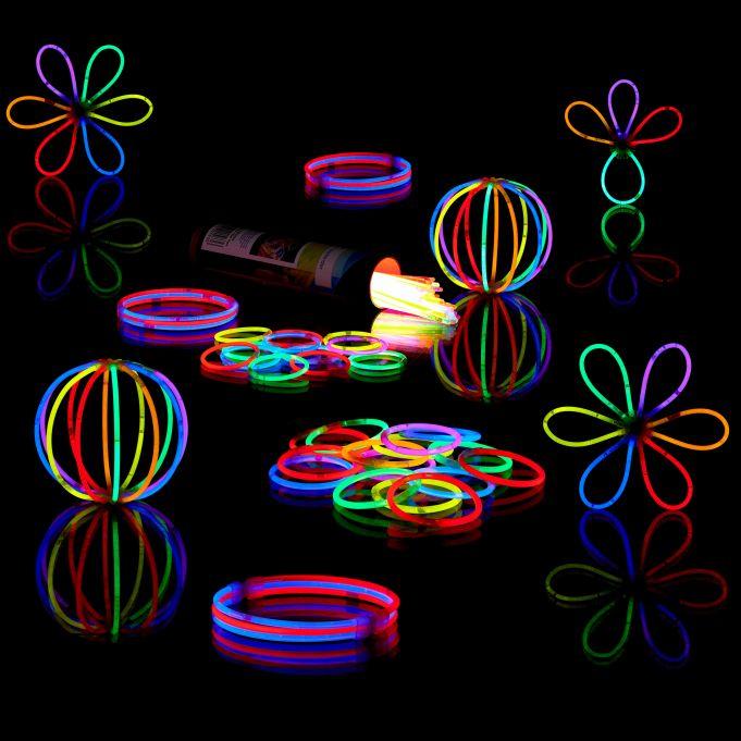 10 Knicklichter Leuchtstäbe ORANGE | Leuchtstäbe | 45
