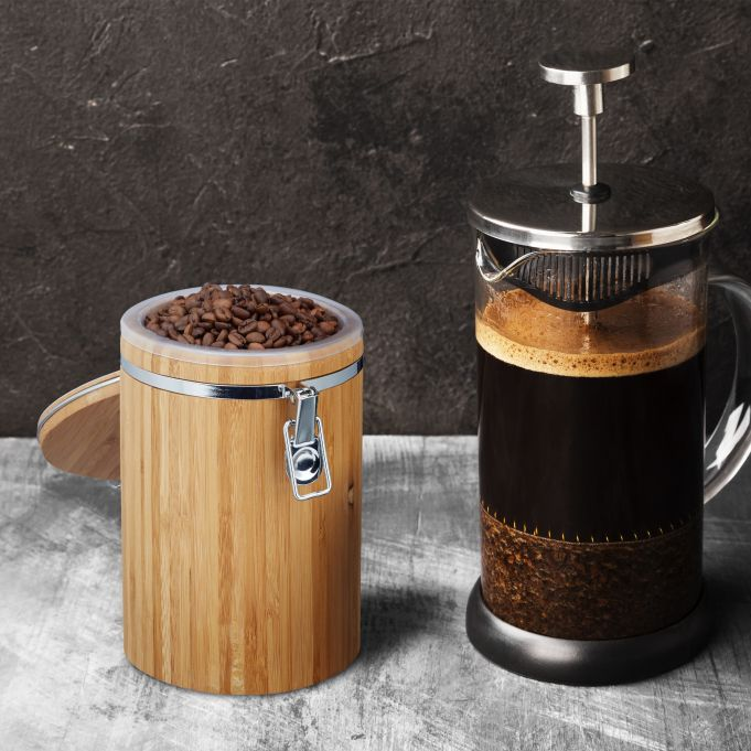 Recipiente de bambú para café y té2