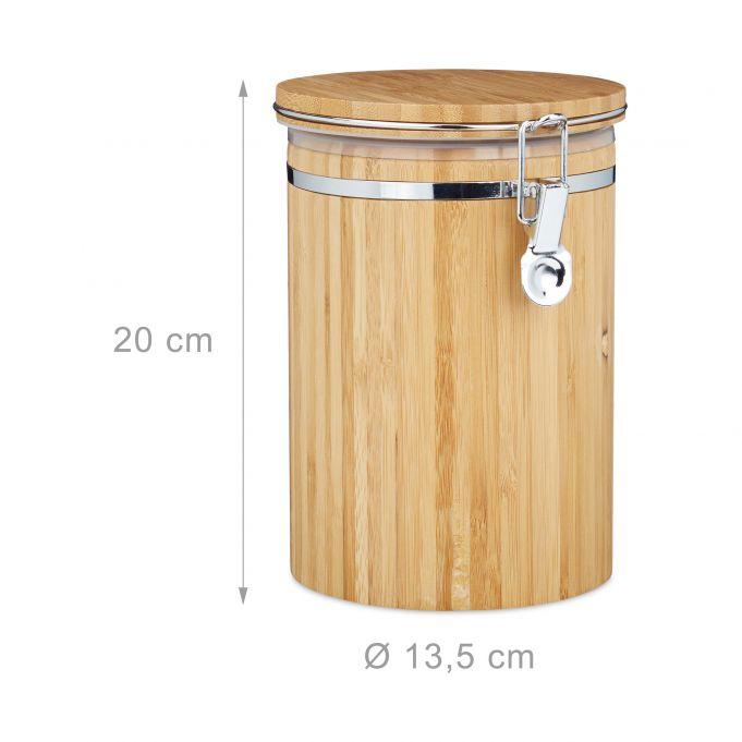 Recipiente de bambú para café y té4