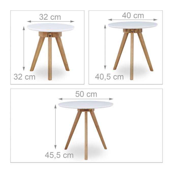 Set 3 mesas auxiliares de roble3