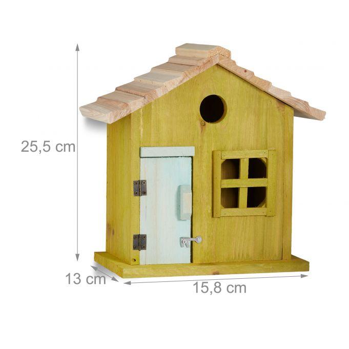 da Appendere Paglia Giardino Balcone Legno Nido Artificiale Decorativo,26x25,Marrone Relaxdays Casetta per Uccelli