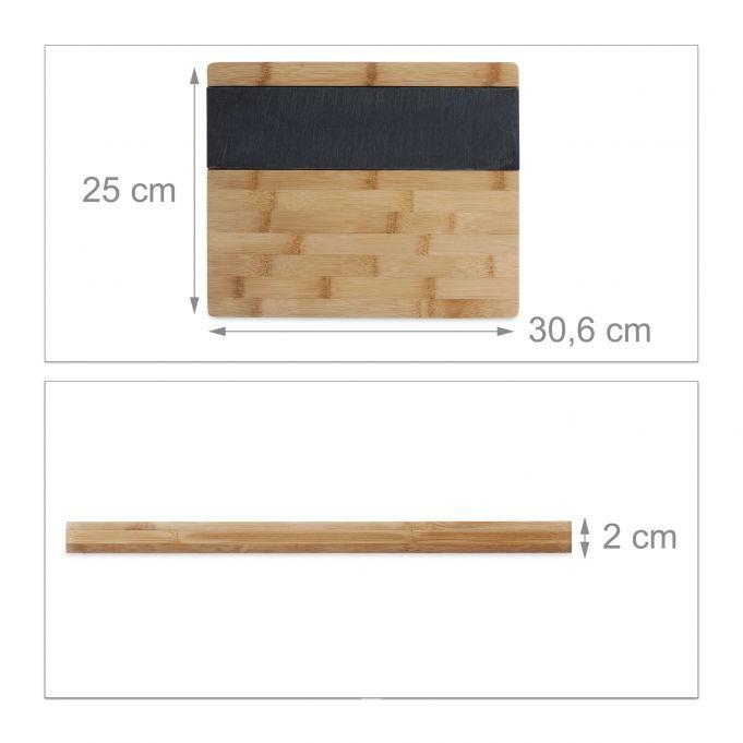 Tabla cortar de bambú y pizarra3