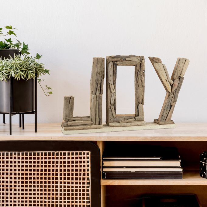 Decorative Driftwood Slogan Joy2