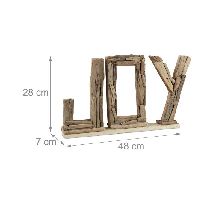 Decorative Driftwood Slogan Joy4