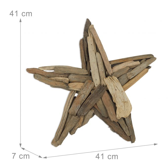 Decorative Wooden Star 40 cm4