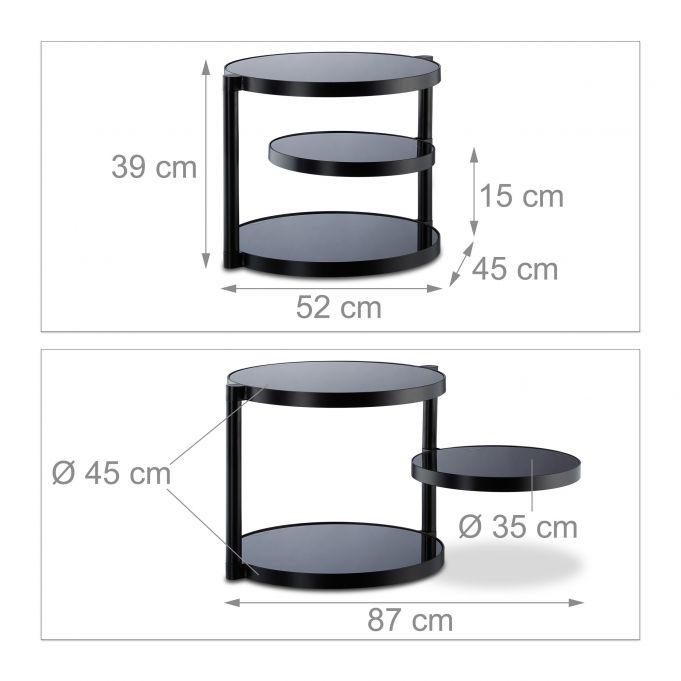 Mesa auxiliar negra con balda giratoria3